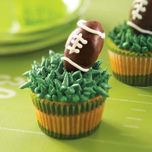 Super Bowl Sunday Truffle Football Cupcakes Cheeriosinmybra